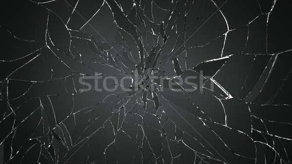 Broken or Shattered glass on white Stock photo © Arsgera