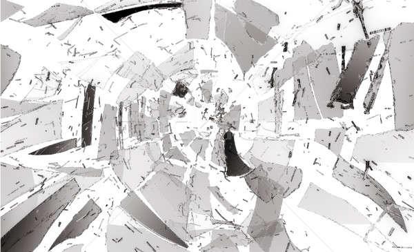 Muitos peças quebrado vidro quebrado grande Foto stock © Arsgera