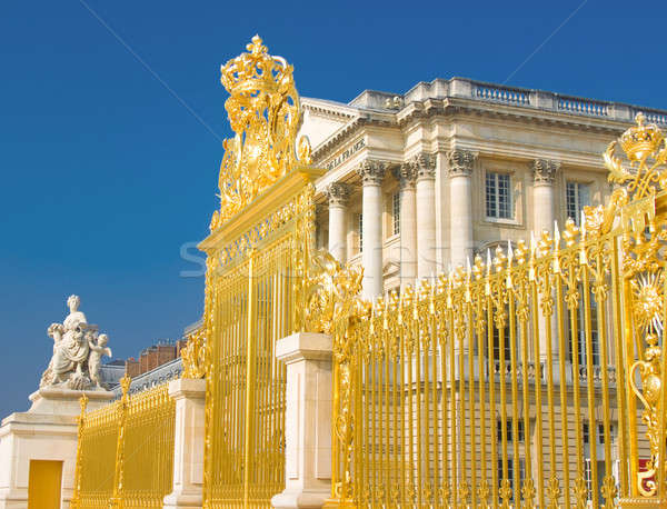 Golden gate and Palace facade in Versailles Stock photo © Arsgera