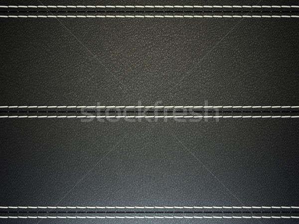 Fekete vízszintes bőr nagy döntés textúra Stock fotó © Arsgera