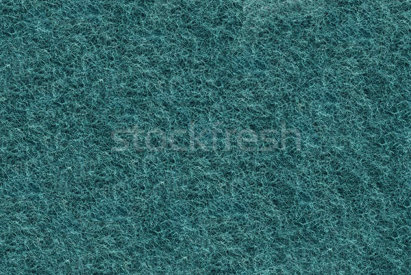Close-up of Teal synthetic fibrous surface Stock photo © Arsgera