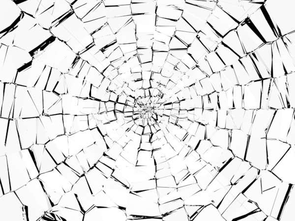 Damage and wreck: abstract broken glass pattern Stock photo © Arsgera