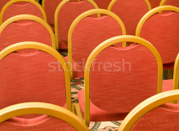 Rows of red Chairs in the conference hall Stock photo © Arsgera