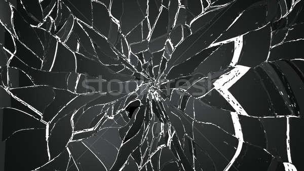 Kırık kırık cam beyaz büyük karar Stok fotoğraf © Arsgera