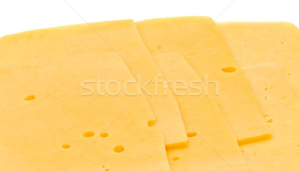 Close-up of Sliced hard cheese  Stock photo © Arsgera