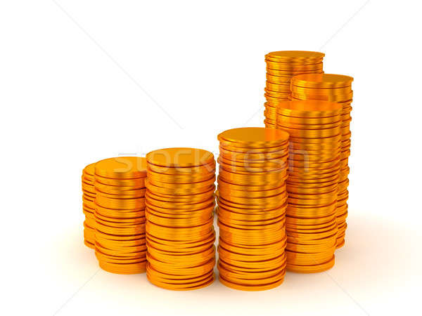Growth and profit: coins stacks Stock photo © Arsgera