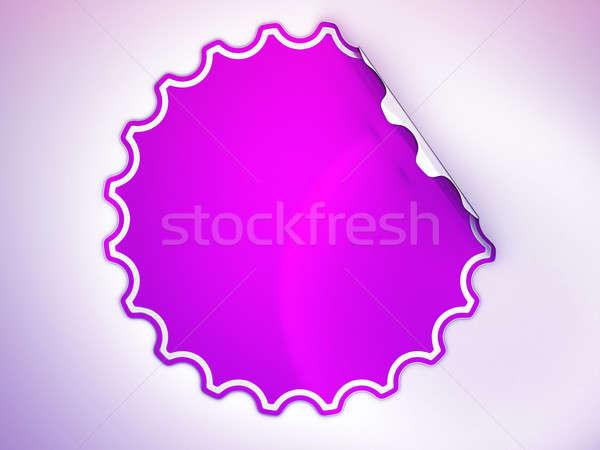 Magenta matrica címke folt fény üzlet Stock fotó © Arsgera