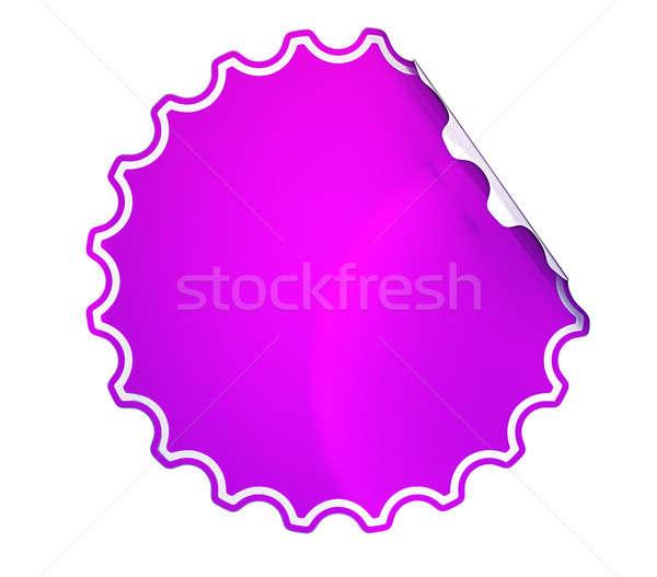 Magenta matrica címke fehér üzlet vásárlás Stock fotó © Arsgera