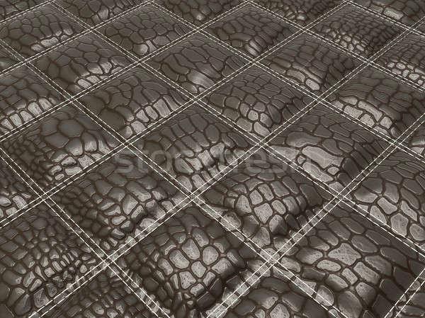 Alligator skin with stitched rectangles Stock photo © Arsgera