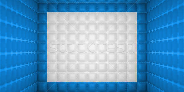 Soft room concept. Blue stitched leather pattern Stock photo © Arsgera