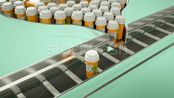 Drugs and pills production line Stock photo © Arsgera
