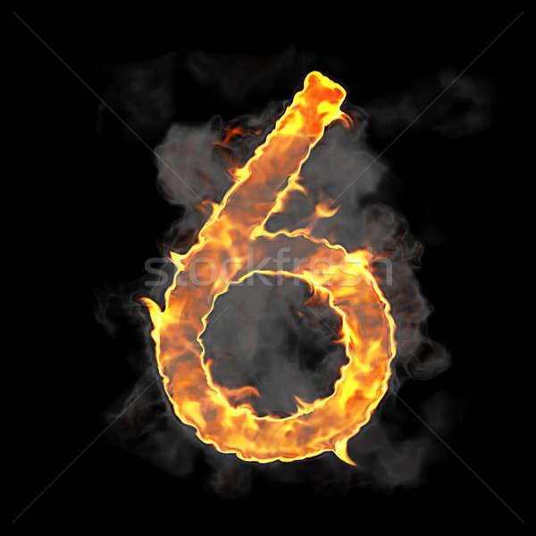 сжигание пламени шрифт цифра черный текстуры Сток-фото © Arsgera