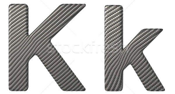 Carbon fiber font K lowercase and capital letters  Stock photo © Arsgera