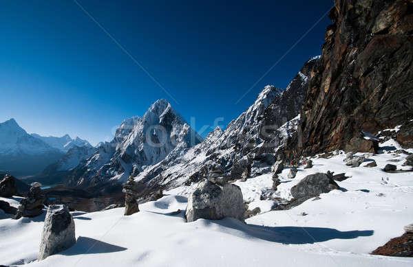 LA passz Himalája Nepál magasság égbolt Stock fotó © Arsgera