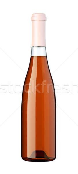 Fles witte wijn brandewijn geïsoleerd witte partij Stockfoto © Arsgera