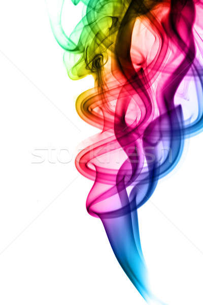 Abstract colorful fume swirls Stock photo © Arsgera