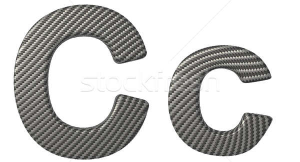 Carbon fiber font C lowercase and capital letters Stock photo © Arsgera