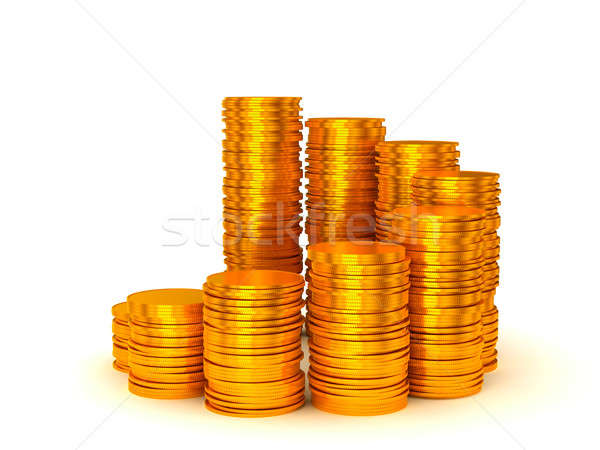 Growth and wealth: coins stacks  Stock photo © Arsgera