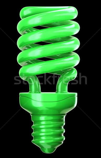 効率 環境にやさしい 技術 緑 電球 黒 ストックフォト © Arsgera
