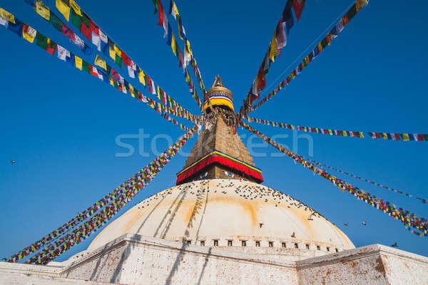 Boudhanath stupa in Kathmandu Stock photo © Arsgera