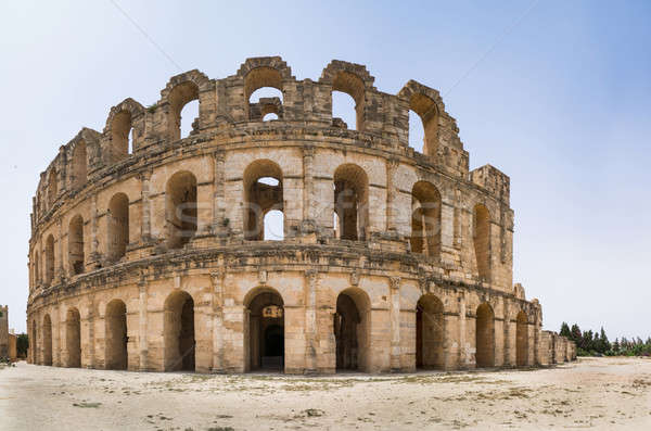 Roman amphitheater in El Djem Stock photo © Arsgera