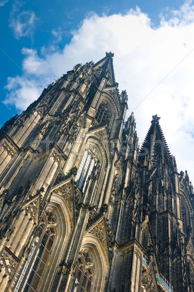 Towers of Koelner Dom Cologne Cathedral over blue sky Stock photo © Arsgera