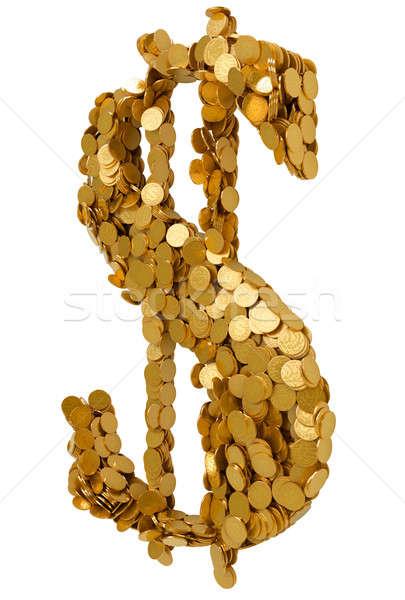 американский доллара валюта монетами изолированный Сток-фото © Arsgera