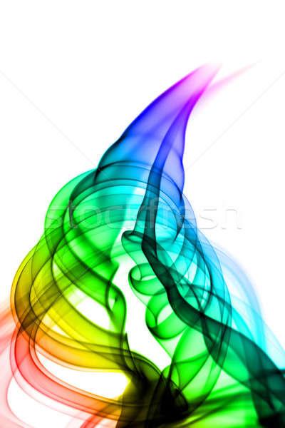 魔法 抽象化 煙 渦 白 光 ストックフォト © Arsgera