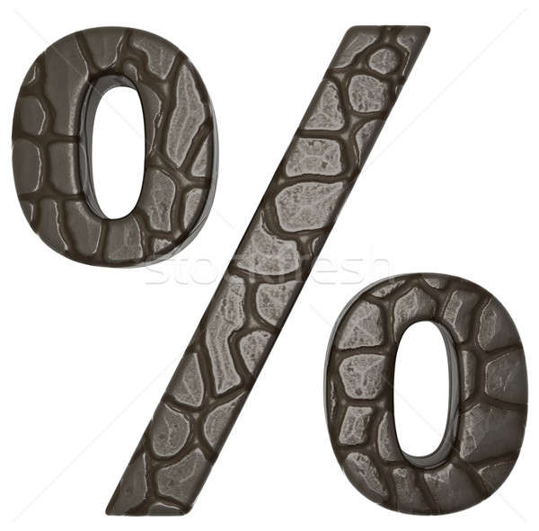 Alligator skin font percent symbol Stock photo © Arsgera