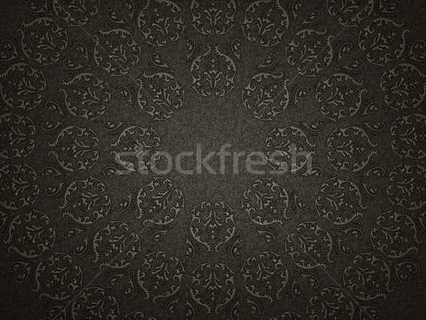 Leather background with embossment or stamping victorian pattern Stock photo © Arsgera