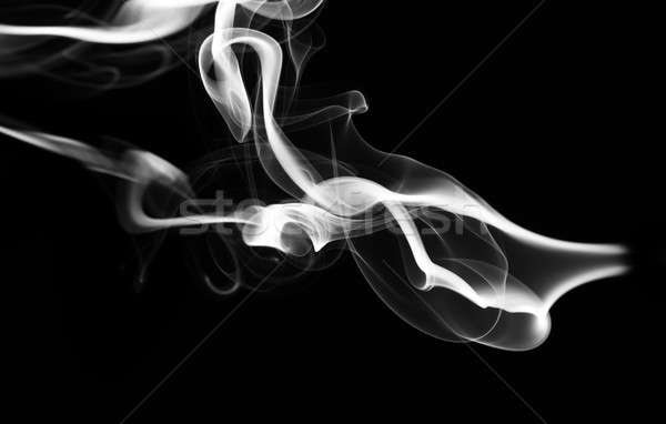 Abstract white fume pattern and shape on black Stock photo © Arsgera