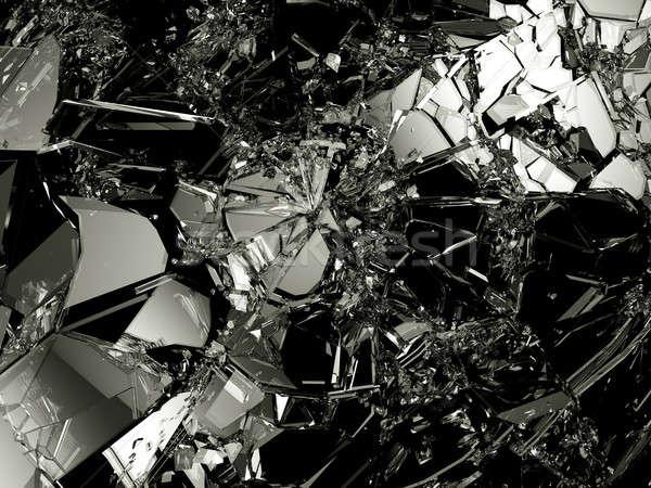 Scherp stukken zwarte groot Stockfoto © Arsgera