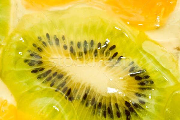 Szeletel kiwi narancs narancs mandarin étel Stock fotó © Arsgera