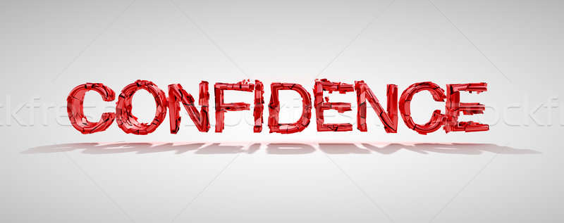Confidence word destruction Stock photo © Arsgera