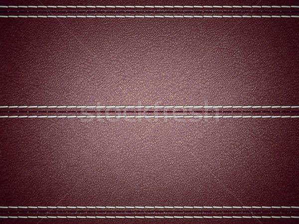 Gesztenyebarna vízszintes bőr nagy döntés textúra Stock fotó © Arsgera