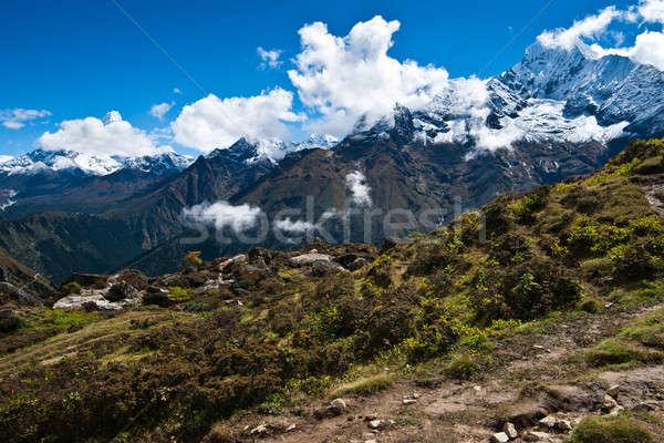 ヒマラヤ山脈 風景 空 山 氷 旅行 ストックフォト © Arsgera