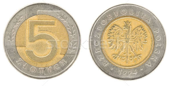 5 zloty - money of Poland Stock photo © Arsgera