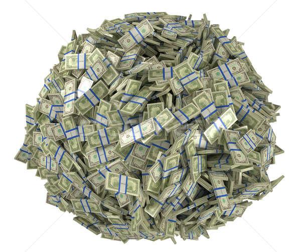 Ball shape assembled of US dollar bundles Stock photo © Arsgera