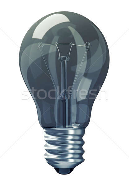 Great Idea: obsolete light bulb isolated on white Stock photo © Arsgera