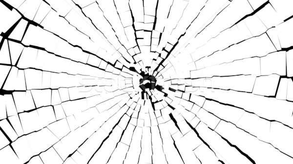 Soyut parçalar kırık beyaz cam siyah Stok fotoğraf © Arsgera