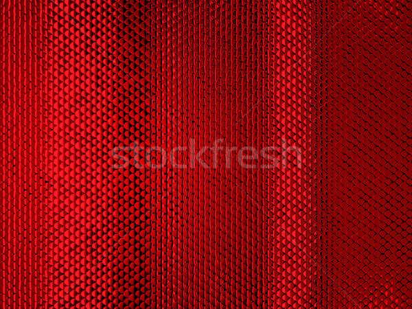 Red Scales or squama texture or metallic background Stock photo © Arsgera