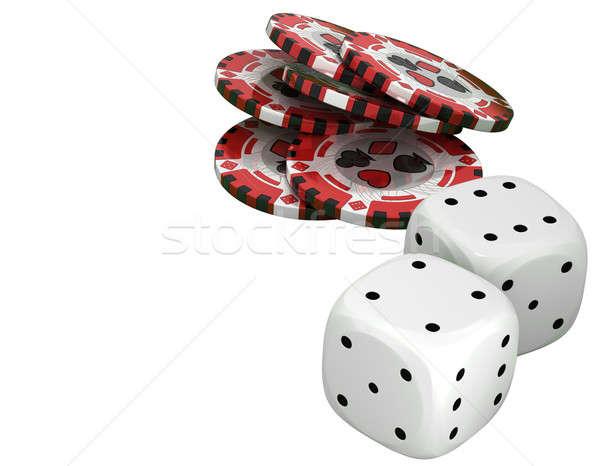 Kaszinó rulett sültkrumpli fehér egyéb szabadidő Stock fotó © Arsgera