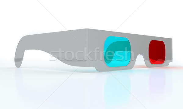 Stereoscopic 3D glasses for watching 3DTV  Stock photo © Arsgera