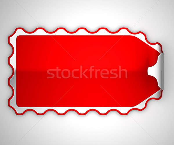 Red jagged bent sticker or label  Stock photo © Arsgera