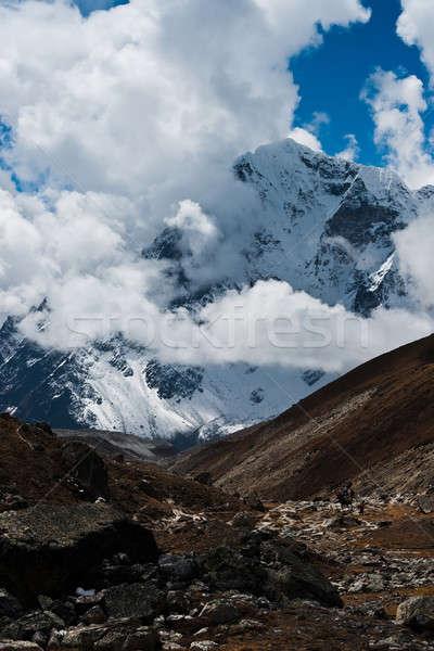 Trekking in Himalaya: rocks and mountains  Stock photo © Arsgera