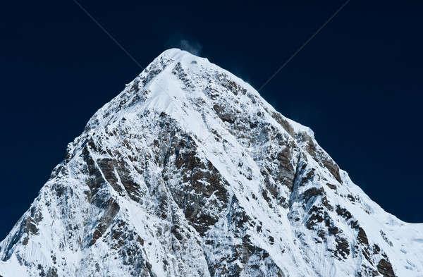 Blauwe hemel himalayas Nepal shot hoogte Stockfoto © Arsgera