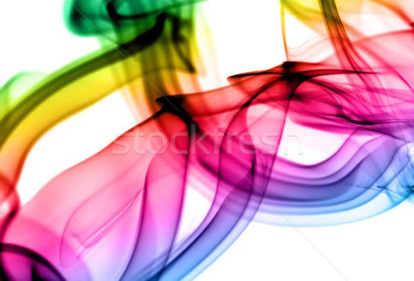 Abstract gradient fume patterns on white Stock photo © Arsgera