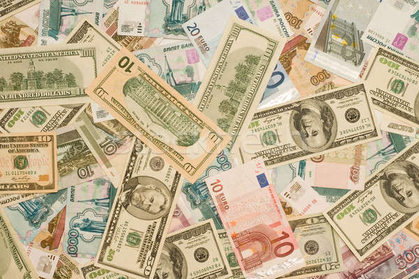 World currency - Dollars, euros, roubles of Russia Stock photo © Arsgera