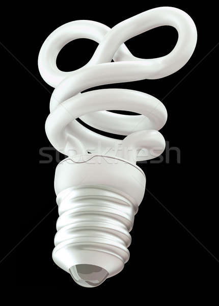 infinity or eternity symbol light bulb isolated Stock photo © Arsgera