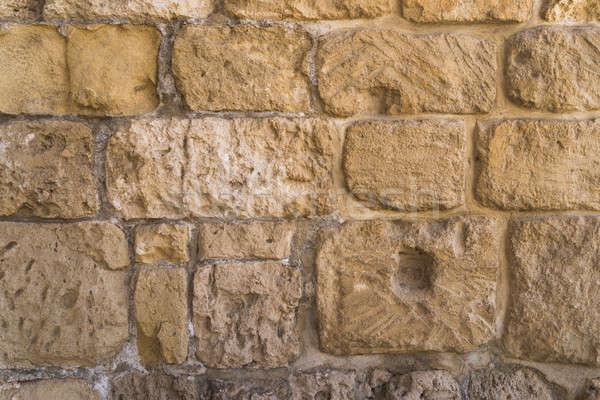 Vecchio · muro · di · pietra · texture · costruzione foto d